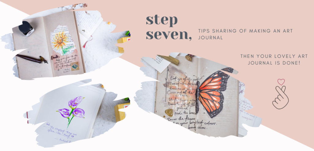 step 7: tips sharing of making an art journal