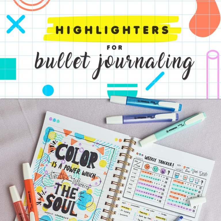 Highlighters For Bullet Journaling