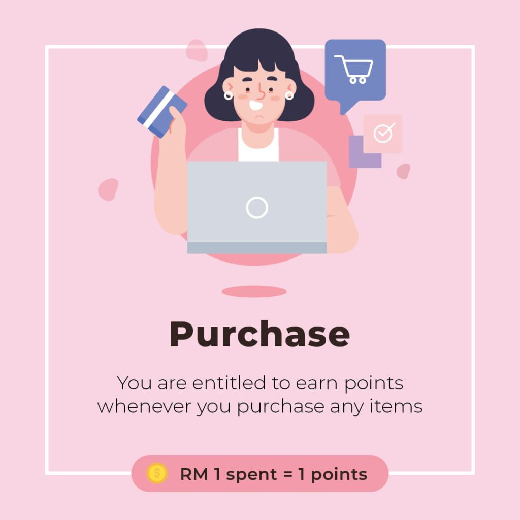 earning points through purchase a course